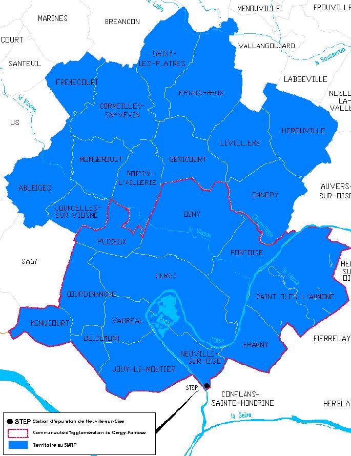 Carte du réseau du SIARP